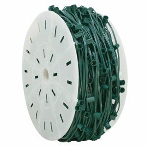 "1,000' - 12"" Spacing C6 - Green 18 AWG Cord Commercial Grade"