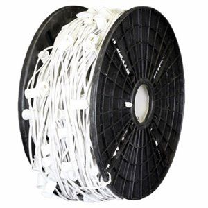 "1,000' - 12"" Spacing C6 - White 18 AWG Cord Commercial Grade"