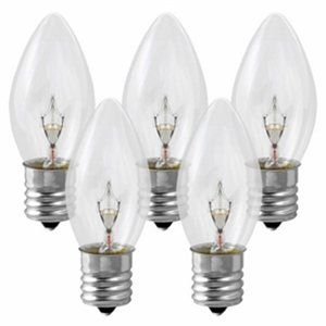 25 Pack - Clear C9 Incandescents Commercial Grade