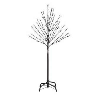 LED Cherry Blossom Tree, Pure White, 4-Ft.