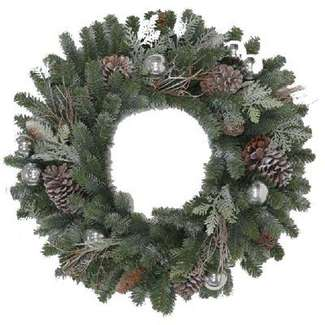 Tacoma Artificial Wreath, Frosted, 24-In.