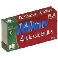 4 Pack - Blue C7 Incandescents Transparent