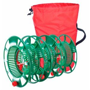 Christmas Light Storage Reels, Green Plastic, 3-Ct.