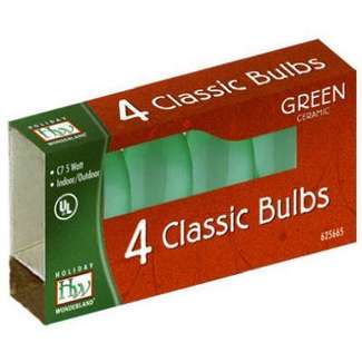 4 Pack - Green C7 Incandescents Ceramic