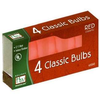 4 Pack - Red C7 Incandescents Ceramic
