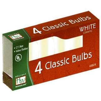4 Pack - White C7 Incandescents Ceramic