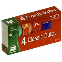 4 Pack - Multicolor C7 Incandescents Transparent