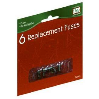Replacement Fuse, For Mini Christmas Light Set, 3-Amp, 6-Pk.