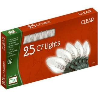 25 Light Set - 24 ft C7 Incandescent Clear - Transparent