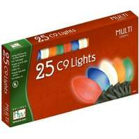 25 Light Set - 24 ft C9 Incandescent Multicolor - Ceramic