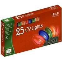 25 Light Set - 24 ft C9 Incandescent Multicolor - Transparent