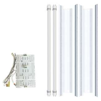 2 Lamp LED Retrofit White Reflector Direct Wire