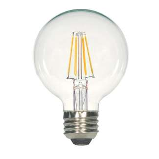 4.5 Watt - Medium Base 4000K - G25 Filament LED 80 CRI - Dimmable Satco Lighting