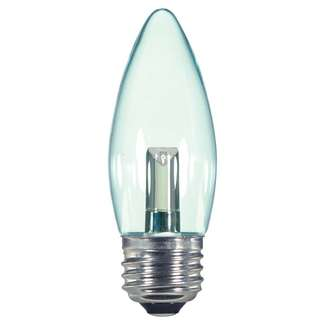 1.4 Watt - Medium Base 2700K - B11 LED 80 CRI - Clear - Non-Dimmable Satco Lighting