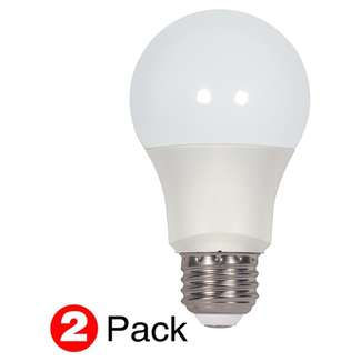 9.5 watt A19 LED; Frosted Medium base; 2-Pack; 2700K