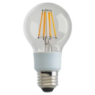 9 watt A19 LED; Clear; Medium base; 2700K