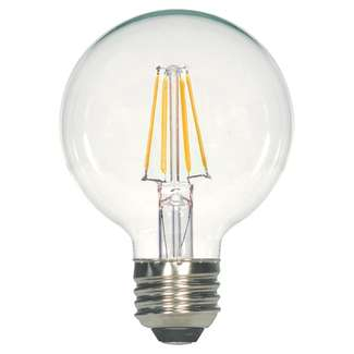 4.5 Watt - Medium Base 3000K - G25 Filament LED 80 CRI - Dimmable Satco Lighting