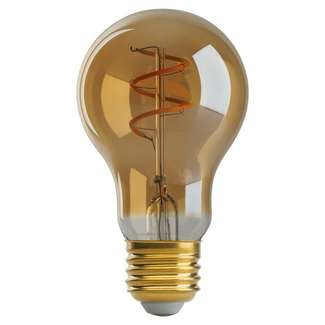 4 Watt - 220 Lumens 2000K - A19 Filament LED 80 CRI - Amber - Dimmable Satco Lighting