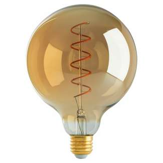 4.5 Watt - Medium Base 2000K - G40 LED 80 CRI - Dimmable Spiral Filament - Amber Satco Lighting