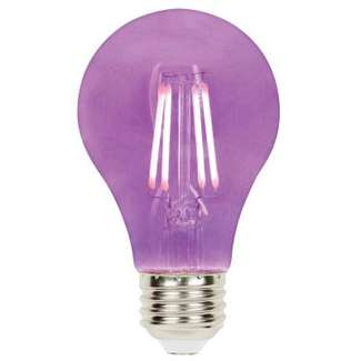 4.5 Watt - 40W Equivalent Purple A-19 Filament LED Dimmable Westinghouse