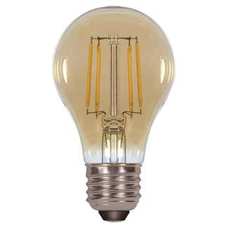 4.5 Watt - 450 Lumens 2200K - A19 Filament LED 80 CRI - Amber - Dimmable Satco Lighting