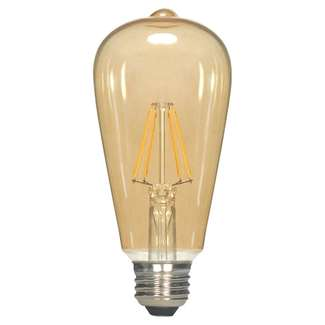 4.5 W ST19 LED Transparent Amber Medium Base Light Bulb