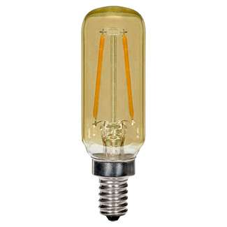 2.5 watt T6 LED; Amber; Candelabra base; 2200K; 150 lumens; 120 volts