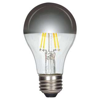 6.5 Watt - 650 Lumens 2700K - A19 Filament LED 80 CRI - Dimmable Silver Crown Satco Lighting