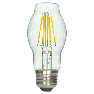 4.5 Watt - Medium Base 2700K - BT15 Filament LED 80 CRI - Clear - Dimmable Satco Lighting