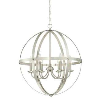Stella Mira Six-Light Indoor Chandelier Brushed Nickel Finish