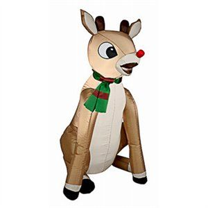 Christmas Inflatable Rudolph, 3-Ft.