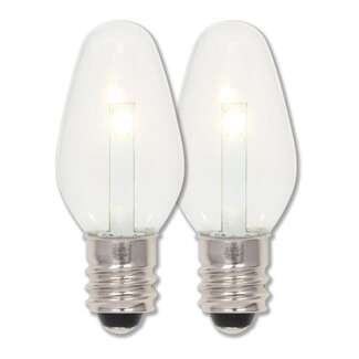 .75 Watt - Candelabra Base 2700K - C7 LED - 2-Pack 80 CRI - Clear Non-Dimmable Westinghouse Lighting