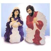 "28"" Plastic Nativity Set With Cord"