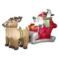 5' Inflatable Santa With Sleigh