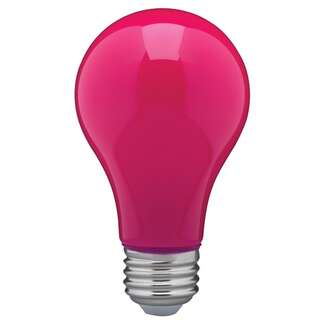 8 Watt - A19 LED Ceramic Pink