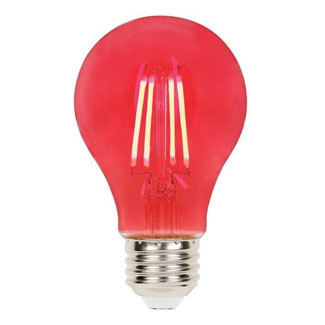 4.5 Watt - 40W Equivalent Red A-19 Filament LED Dimmable Westinghouse