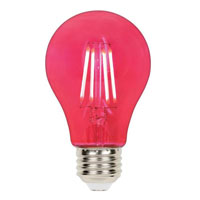 4.5 Watt - 40W Equivalent Pink A-19 Filament LED Dimmable Westinghouse