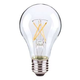 5 Watt - 450 Lumens 2700K - A19 Filament LED 80 CRI - Clear - Dimmable Satco Lighting