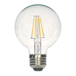4.5 Watt - Medium Base 2700K - G25 Filament LED 80 CRI - Dimmable Satco Lighting