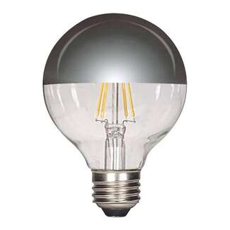 4.5 Watt - Medium Base 2700K - G25 Filament LED 80 CRI - Dimmable Silver Crown Satco Lighting