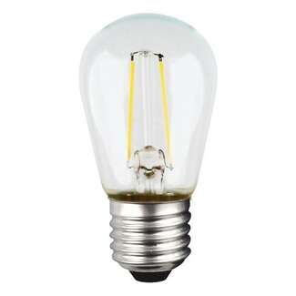 1 Watt - Medium Base 2700K - S14 Filament LED 80 CRI - Clear Satco Lighting