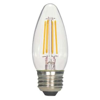5.5 Watt - Medium Base 2700K - B11 Filament LED 80 CRI - Clear - Dimmable 2 Pack Satco Lighting