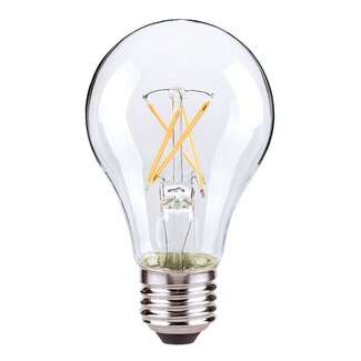 7.5 Watt - 800 Lumens 2700K - A19 Filament LED 80 CRI - Clear - Dimmable 4 Pack Satco Lighting