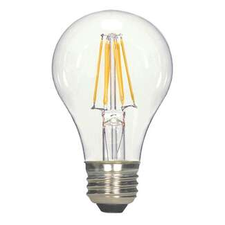 7 Watt - 800 Lumens 3000K - A19 Filament LED 80 CRI - Clear - Dimmable Satco Lighting