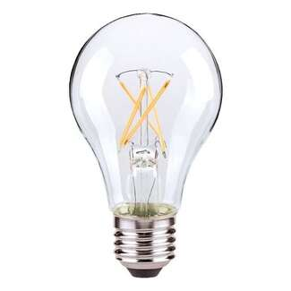 5 Watt - 450 Lumens 3000K - A19 Filament LED 80 CRI - Clear - Dimmable Satco Lighting