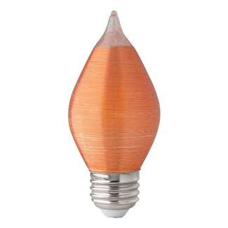 4 Watt - Medium Base 2700K - C15 Filament LED 80 CRI - Dimmable Amber Spun Satco Lighting