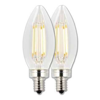 4.5 Watt - Candelabra Base 2700K - B11 Filament LED 80 CRI - Clear - Dimmable 2 Pack Westinghouse Lighting