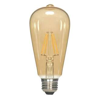 2.5 Watt - Medium Base 2000K - ST19 Filament LED 80 CRI - Dimmable Transparent Amber Satco Lighting