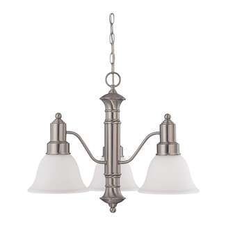"Gotham- 3 Light 23"" Chandelier with Frosted White Glass"