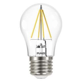 4 Watt - 450 Lumens 2700K - A15 Filament LED 80 CRI - Clear - Dimmable RAB Lighting